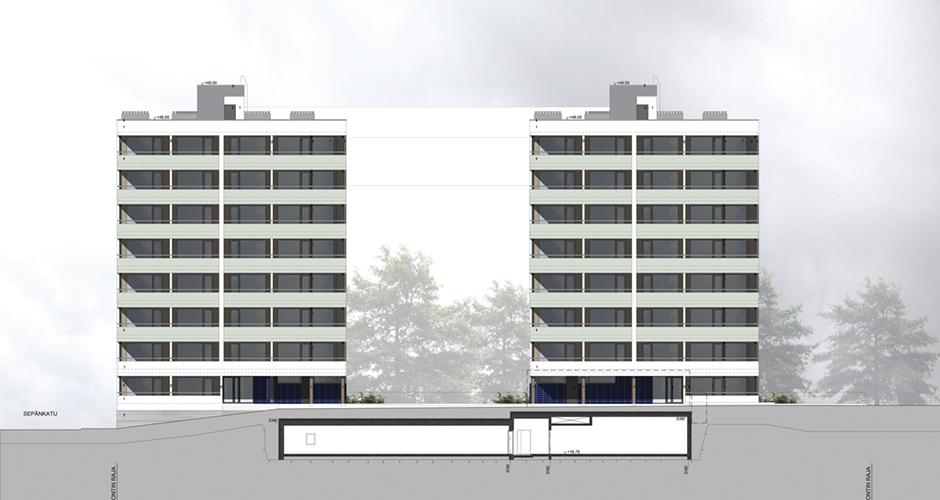 Sepänkadun kerrostalot- kahden kerrostalon täydennysrakentamiskohde
